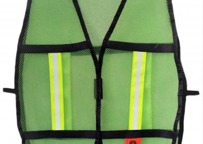 """Mod. 496 Chaleco verde c/reflejante de ½"""""""